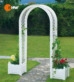 [3点購入で5%OFFクーポン]〔ドイツ・KHW〕ドイツ製 ガーデン アーチ付 プランター ボックス ポリプロピレン プランター アーチ 送料無料