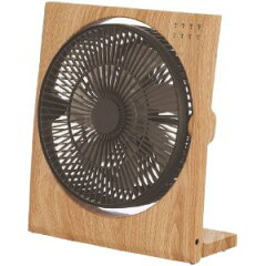 ウッド調のお部屋のインテリアにもなる、おしゃれな扇風機〔ドウシシャ〕Pieria(ピエリア) 19cm...