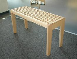 旭川工藝車間余弦 (余弦) KHOSHI 格子凳 ST 08NM 木椅凳國產 (在日本) 椅 (休閒椅)