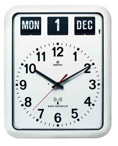 [3点購入で5%OFFクーポン]TWEMCO 電波クロック(電波時計)RC-12A (ホワイト)おしゃれな掛け時計...