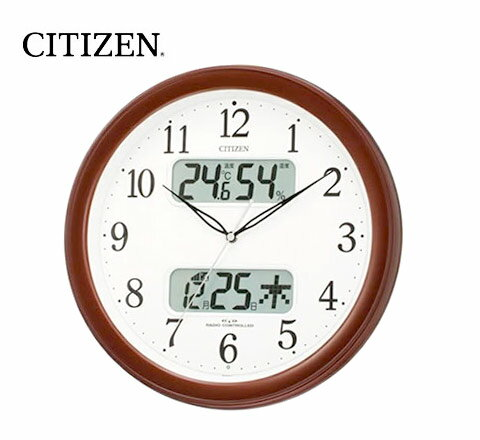 Citizen digital Thermo-hygrometer ( clock ) and calendar with radio clock ネムリーナ calendar M01 4FYA01-006