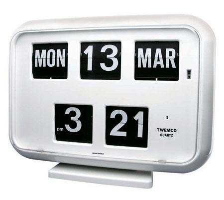 [3点購入で5%OFFクーポン]TWEMCO社クロック(QD-35)[ホワイト] 置き掛け兼用時計 送料無料