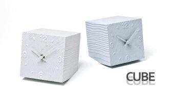 Stylish clock CUBE (cube) AZ-10-17 GY fs3gm