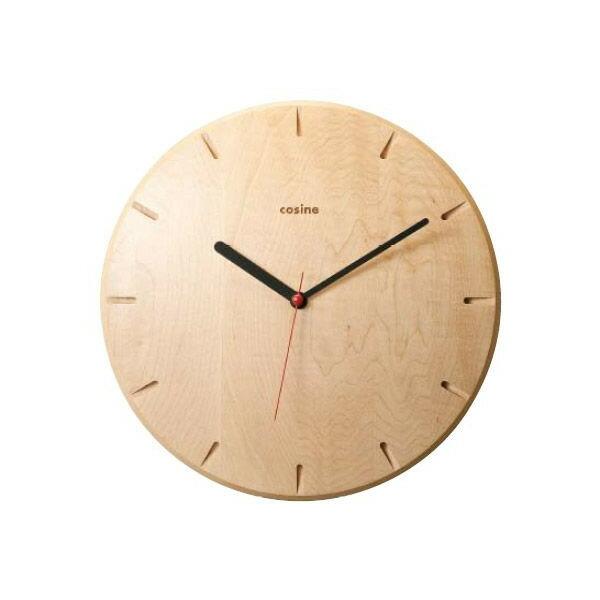 New!旭川のクラフト工房 cosine(コサイン)掛け時計(メープル) 木製 掛時計 【おしゃれ】 CW-15CM 送料無料 【旭川家具】 キャッシュレス5%ポイント還元