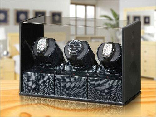 [3点購入で5%OFFクーポン]BOXY Designウォッチワインダー P03CC-BK(ワインディングマシン) 送料無...