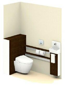 TOTOUWFFA1REA32NN1BDAレストパルF(壁排水)L型SサイズウォシュレットタイプアプリコットF3AWタイプカラー:ダルブラウン水栓自動水栓メーカー直送材のみ