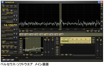 microtelecomPERSEUS(ペルセウス)ソフトウェア受信機,BCL,,短波