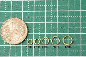[50個]サージカルステンレス丸カン(0.8X5mm)ゴールド金アクセサリーパーツ