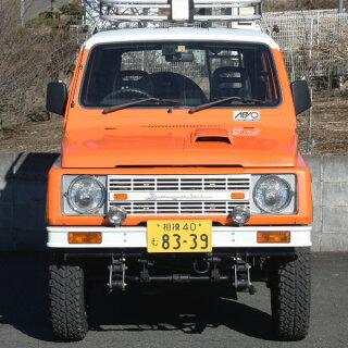ブロンコ風フロントバンパー・ホワイト塗装(前)【アピオジムニーJA11パーツ】
