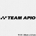 TEAM APIO カッティングステッカー(Sサイズ)