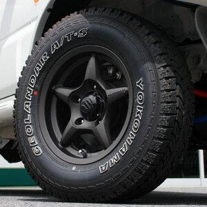 [普通車ジムニー専用]WILDBOAR X 15インチ ガンブラック YOKOHAMA GEOLANDAR A/T-S 215/75R15 1...
