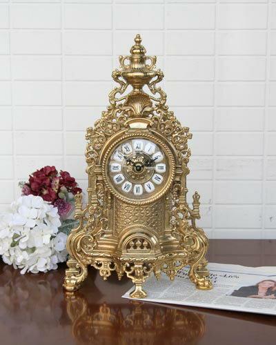 イタリア製 卓上時計(真鍮ゴールド):輸入家具の専門店アピタス