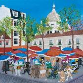 ヨランダ・サロモン ドゥヴァル 絵画・アート(版画)/モンマルトンの芸術祭/ねこ・ネコ・猫