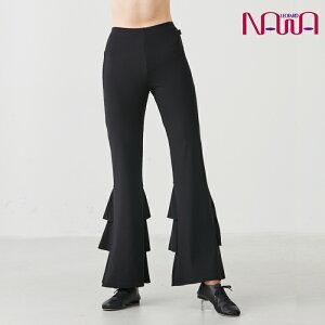 NAWA BodyNature(ボディネイチャー) ライトフリルパンツ レディース 健康体操 サルサ ジャズダンス ファッション S/M/L ブラック