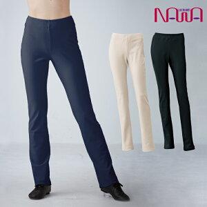 NAWA BodyNature(ボディネイチャー) 裏起毛ストレートパンツ レディース 健康体操 ランニング ジャズダンス ファッション S/M/WM/L/WS/TM/LL ブラック/アイボリー/ネイビー