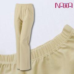 NAWA(ナワ)セミブーツカットパンツレディースシニア向け健康体操ウォーキングファッション日本製M/L/LLベージュ