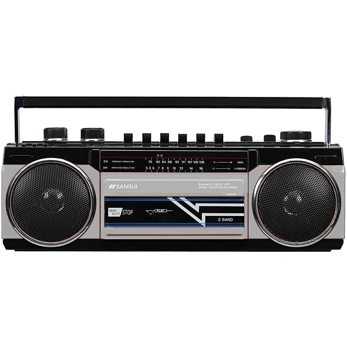 オーディオ, ラジカセ SANSUI SCR-B2 (S) Bluetooth MP3