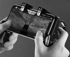 【引金式】荒野行動PUBGMobileゲームコントローラー伸縮式ゲームパッド高速射撃ボタンクリック感優れたゲーム体験エイムアシストiPhoneAndroid等対応