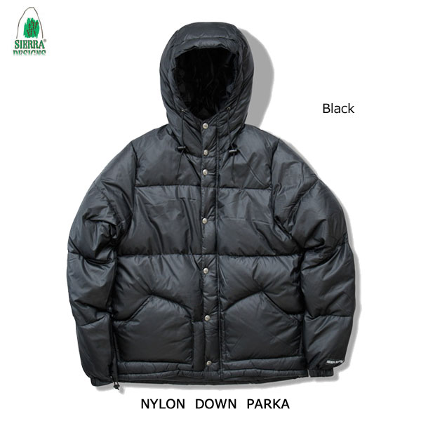 メンズウェア, アウター  1324 SIERRA DESIGNS NYLON DOWN PARKA Black