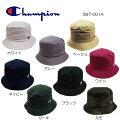 チャンピオンバケットハット587-001AホワイトグレーベージュワインカーキネイビーブラックカモChampionBUCKETHAT8color定番ハット帽子男女兼用日よけ