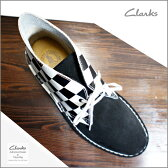 クラークス あす楽対応 デザート ブーツ Clarks The Rock Royalty Collection SKA Music Clarks Originals Desert Boot Black / White Check