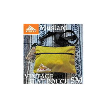 ケルティ ヴィンテージ フラット ポーチ SM 2592214 Mustard KELTY VINTAGE FLAT POUCH SM サコッシュ ショルダー バッグ