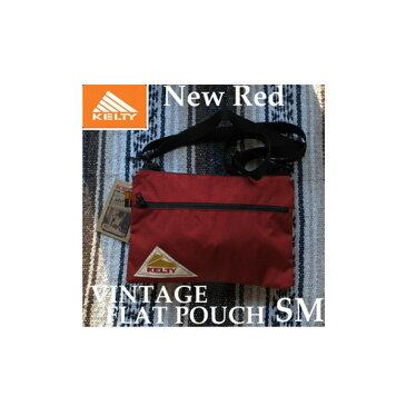 ケルティ ヴィンテージ フラット ポーチ SM 2592214 New Red KELTY VINTAGE FLAT POUCH SM サコッシュ ショルダー バッグ