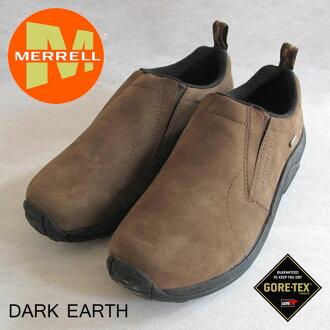 Merrell 男士叢林 MOC 戈爾特斯 M42303 黑暗地球男士戶外運動鞋 Merrell 叢林 Moc 戈爾特斯男裝