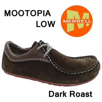 mereruuimenzumutopiaro W577088 DARK ROAST婦女分歧D運動休閒鞋Merrell Mootopia Low Womens