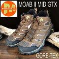 メレルモアブ2ミッドゴアテックスM06063EarthMerrellMOAB2MIDGORE-TEXメンズアウトドアゴアテックススニーカー防水