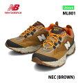 ニューバランスML801DNECブラウンBROWNメンズサイズユニセックスNewBalanceTrailRunningForMensトレイルランニングアウトドアデイリーユースシューズ靴