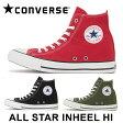 コンバース オールスター インヒール ハイ スニーカー ハイカット レディース レッド ブラック オリーブ カーキ 赤 黒 緑 女性 CONVERSE ALL STAR INHEEL HI 送料無料 靴