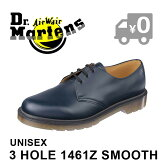 【正規品】 ドクターマーチン 3ホールブーツ ネイビー レースアップ シューズ ローカット メンズ レディース Dr.Martens 1461 PW 3 EYE SHOE NAVY 10078410 送料無料 靴
