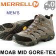 メレル モアブ ミッド ゴアテックス メンズ トレッキングシューズ アウトドア 防水 軽量 スニーカー 男性 MERRELL MOAB MID GORE TEX 送料無料 靴