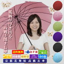 傘 送料無料 新花舞妓「桜雫 長傘」 雨に濡れると桜が浮き出...