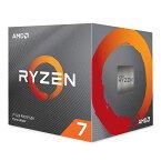 【ポイント最大36倍★12月10日限定】CPU AMD エーエムディー Ryzen 7 3700X BOX プロセッサ名 Ryzen 7 3700X クロック周波数 3.6GHz ソケット形状 Socket AM4 二次キャッシュ 4MB 0730143309974