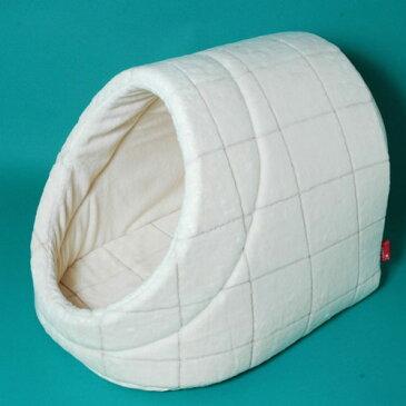 シール織りウィンドペン柄ドーム型ネコベッドL猫ベッドのappy dog