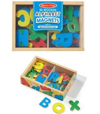 Melissa&Doug メリッサ&ダグ アルファベット ABC 木製マグネット