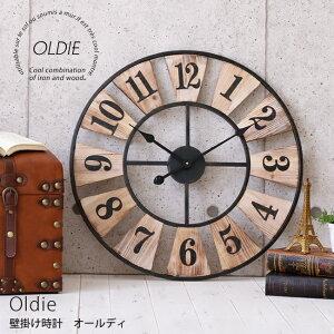 """58b1616244 ... 誕生日 母の日 鉄 ウォールクロック インテリア Old... でアラモ、でアプリ-->□商品について鉄と木の組み合わせがクールな壁掛け 時計 """"oldie""""。"""