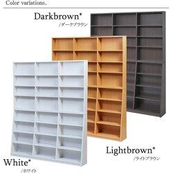 文庫本ラック150幅本棚書棚ブックシェルフマンガラック漫画ラック150cm【ダークブラウン・ライトブラウン・ホワイト】