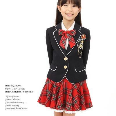 【サイズ交換無料】制服風ブレザースーツ ゆったりサイズあり 女の子 入学式 子供服フォーマル...
