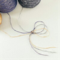 【O福wake:糸】CY-08100g(約620m)ウール混メタリック糸紐ファンシーコーン巻テープラッピングヤーン糸毛糸手芸編み物手編みクラフトハンドメイド