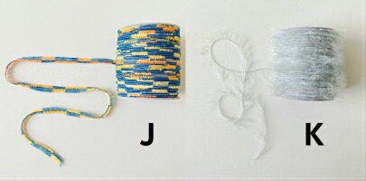 【O福wake:ぷちろーる】BY-0315g糸★まとめ買い対象商品★カラーいろいろ種類いろいろボビン巻ファンシーグラデーションテープ紐ラッピングヤーン毛糸手芸編み物手編みクラフトハンドメイド