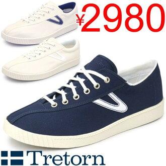 男式運動鞋 tretorn 運動鞋帆布鞋 TRETORN NYLITE (左近) 低切的男鞋鞋經典經典 /RMS3226
