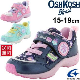 可愛的孩子們鞋奧什科什 Bgosh 奧什科什孩子運動鞋孩子為女孩 15.0 19.0 釐米運動鞋服務學校絲帶少女 /OSK-C407