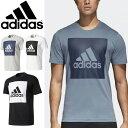 割引クーポンあり★半袖Tシャツ メンズ アディダス adidas ESSENTIALS ビッグスクウェアロゴ ロゴT クルーネック 男性 トップス スポーツ カジュアル ウェア /BVC60