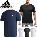 Tシャツ 半袖 メンズ/アディダス adidas ESSENTIALS CLIMALITE パックTシャツ/男性 ワンポイント シンプル クライマライト ジム トレーニング CLIMALITE スポーツウェア/ETZ84