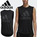 ノースリーブ Tシャツ レディース/アディダス adidas W ID ウィナーズ/トレーニング ランニング フィットネス 女性用 ビッグロゴ スリーブレス 袖なし スポーツウェア /DKQ36