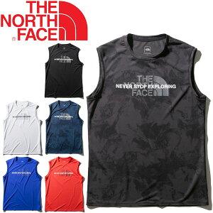 ノースリーブシャツ メンズ タンクトップ ノースフェイス THE NORTH FACE/スリーブレス アンペアクルー/スポーツウェア メッシュ クルーネック 男性 袖なし トレーニング ランニング トップス/NT12084