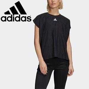 Tシャツ フレンチスリーブ レディース アディダス adidas W STYLE ミディTシャツ PRIME BLUE/スポーツウェア ブラック 黒 女性 トップス フィットネス 自宅トレーニング 家トレ 宅トレ/GLP01-FL1832